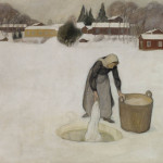 Pekka Halonen, Washing on ice.